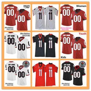 Nome do produto: 2019 2019 homens das mulheres jovens Georgia Bulldogs UGA camisa de futebol Richard LeCounte Zamir branco Rodrigo Blankenship Walker Cox Cook NCAA 4XL