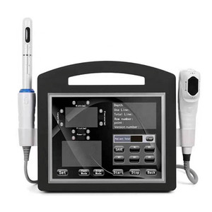 Yeni 2 in 1 4D HIFU Ultrason 12Cartridges ile 12 satırlar HIFU Yüz Germe Kırışıklık Temizleme Vaginal Sıkma Makinesi ile Sıkılaştırma