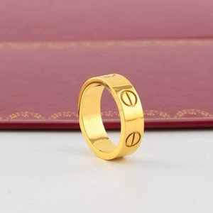 Wholesale hombres mujeres pareja diseño anillo 316L anillos de diamante de acero inoxidable No sead de anillos de boda para decoloración Anillo de bucle de regalo Joyería Anillo barato