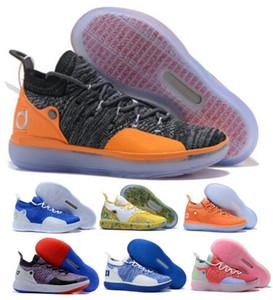 رجل KD 11 أحذية كرة السلة رمادي كيفن دورانت 11S Eybl ومع KDS متعدد الألوان المذعور زودياك الصينية 2020 Zapatos المدربين حذاء حذاء رياضة