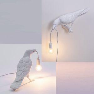 di buon auspicio lampada da parete uccello lampada da tavolo creativa postmoderna lampade camera da letto design nordico uccello semplice lampada da parete di design europeo
