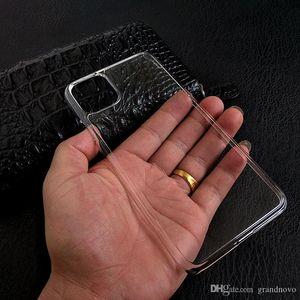 Ultra fina delgada clara transparente de plástico duro de caja de cristal PC Shell para el iPhone 11 Pro Max XS XR X 8 7 6 6S Plus protectora a prueba de golpes