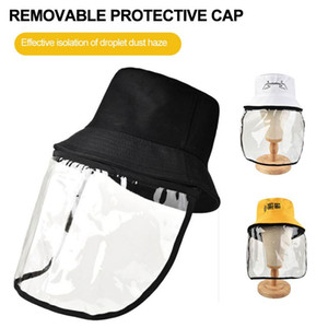 Fishing Hat Cover Cap Mask Cute Fishing Hat Transparent TPU Removable Fisherman Sun Cap For Camping Hiking Cycling