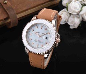 Famous Logo Brand New Original Calendar Dial Men Modern Watches Precise Suede Leather Strap Quartz Shock Resistant Wristwatch Christmas Gift