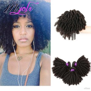 A Indian Human Kinky Curly Hair Weave Unprocessed Virgin Hair Extension Three Bundles 3pics Lot Queen Hair Double Weft From Msjoli