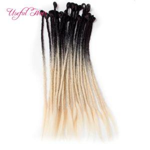 de cheveux synthétiques main Dreadlocks Crochet cheveux Extensions de cheveux synthétiques Crochet Braid pour les femmes Brown Crochet soeur Locks Twist