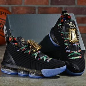 Yeni Yayın L16 Tahtını İzle Erkekler Basketbol Ayakkabı Siyah Metalik Altın-Gül Frost 16 S Erkek Atletik Spor Sneaker