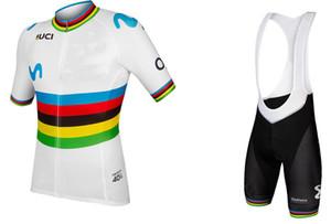 2019 Alejandro Valverde UCI с коротким рукавом велоспорт Джерси летняя велосипедная одежда ROPA CICLISMO + нагрудник шорты 3D гель PAD SET размер: XS-4XL