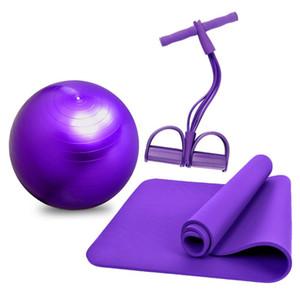 Yoga conjunto salud Fitness casa Yoga Mat con Rally estiramiento Correa bola Pedalension cuerda banda Correa bandas de resistencia