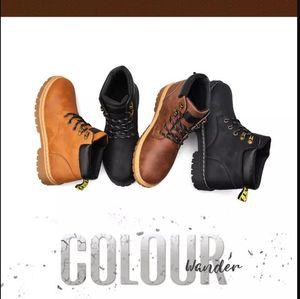 Mens Boots Brown Black Winter Boots дизайнер кожа комфортно лодыжки Мартин сапоги на открытом воздухе ботинки размер 40-44 евро