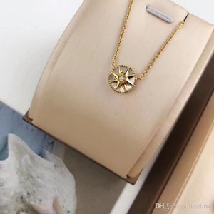 D necklace luxury jewelry designer chains VICTOIRE compass luxury chains octagonal star 18k gold plated 925 sterling silver woman Necklace