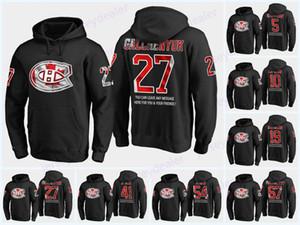 27 Karl Alzner Montreal Canadiens bandera de los EEUU con capucha negra de los jerseys 65 Andrew Shaw 37 Antti Niemi 40 Joel Armia Byron Hockey Hoodies
