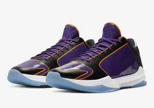 Black Mamba 5 Protro Lakers a la venta con la caja nuevas mujeres de los zapatos de baloncesto Bryant almacenan el envío libre al por mayor US7-US12