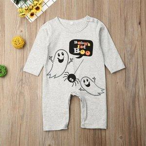 Jungen-Mädchen-Geist-Kleidung Overall-Spielanzug Kleinkind Halloween-Kleidung Neugeborene Baby Mädchen Jungen Ghosts Kostüm-Spielanzug-Outfits