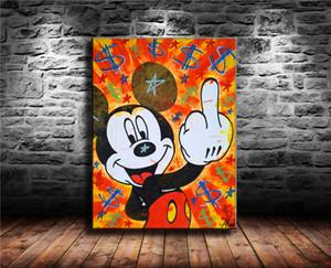 Alec Monopoly-2,1 Stück Leinwand Wandkunst Ölgemälde Wohnkultur (ungerahmt / gerahmt) 24X32: