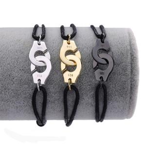 Joyería al por mayor precio de Francia famosa marca de joyería Dinh Van pulsera para las mujeres de moda 925 plata esterlina Cuerda esposas pulsera Menottes