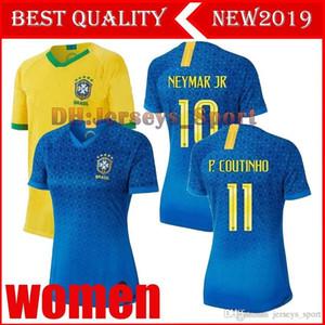 2019 Brésil Maillot Coupe du Monde Brasil Femme MARCELO fille dame G.JESUS P.COUTINHO FIRMINO Domicile Maillots de foot Maillots 19 20 Femme
