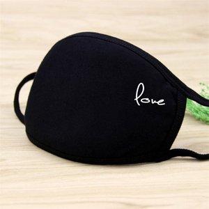 Маска Маски для лица Открытой партии Пятна РМ2,5 Хлопок моды напечатана черная маска пылезащитного тепла индивидуальных печатных масок высокого качества