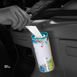 Metal Tissue Holder Multifunctional Tissue Box Cup Holder Ornament for Car Living Room Bathroom Bedroom Office