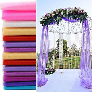 5 metros de largo telón de fondo de la boda Swag Party Cortina Celebración Etapa Performance Background Drape Chiffon Colorful Organza Wedding Accesory