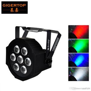 TIPTOP MEGA Hexad PAR 7 x 12W RGBW Cans piatto LED PAR 3PIN XLR DMX OUT Connettore IN / disegno semplice di Big Lens Smooth Dimmer