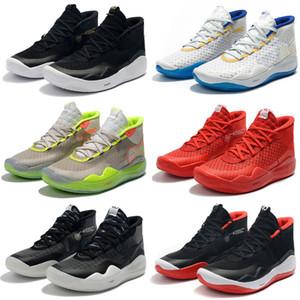 2019 Yeni Kevin Durant XII KD 12 Spor Basketbol Ayakkabıları Mens için En kaliteli Üçlü Siyah Kırmızı 12 s Tasarımcı Spor Sneakers Eğitmenler 7-12