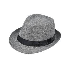 cappello di paglia all'aperto classico maschile 2020 cappello a cilindro di mezza età e anziani estate biancheria protezione solare cappello da sole