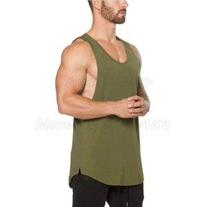 ropa Muscleguys Marca aptitud mangas de los hombres sin mangas culturismo tops Stringer, camisa del entrenamiento del chaleco de gimnasios Undershirt
