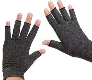 Hot Sale 1 Pair Women Men Cotton Therapy Compression Gloves Hand Arthritis Joint Pain Relief Grey