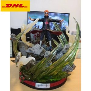 46CM Naruto Statue Akatsuki Nagato Bust Pain Full-Length Portrait With LED Light 1 8 Scale Original Version GK Action Figure Toy BOX X588