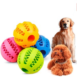 Pet Dog Toy Funny Interactive Elastic Ball Dog Chew Toy Teeth Cleaning Ball Food Super Tough Rubber Durable Woven Bone Rope