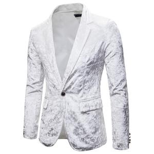 PADEGAO Marque haute qualité 2019 nouveaux hommes mode costume décontracté sina fête de mariage 6 couleurs robe maçonnerie velours costume veste