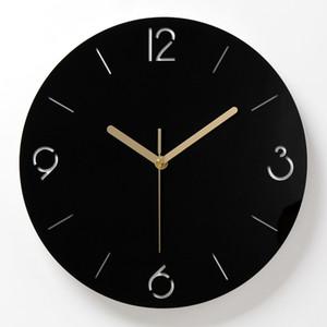 Modern Minimalist Nordic Clock Wohnzimmer Dekoration Zubehör Mode Atmosphäre Stumm Quarz Wanduhren