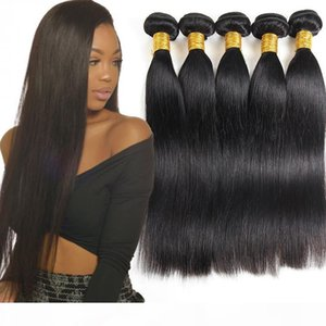 Grade 10A Brazilian Human Virgin Hair Bundles Straight 3or 4 Pcs Unprocessed Brazilian Virgin Human Hair Extension Peruvian Virgin Remy Hair