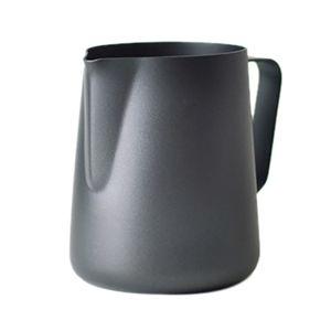 Black Non-Stick Coating Coffee Mug Cup Jug Stainless Steel Espresso Milk Coffee Frothing Jug Tamper Cup Mug 600Ml