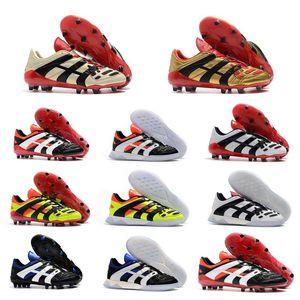 Qualidade superior Mens Predator Sapatos de Futebol Sonho Voltar 98 Predator Accelerator Champagne Predator Designer Botas de Futebol Futebol Sneaker