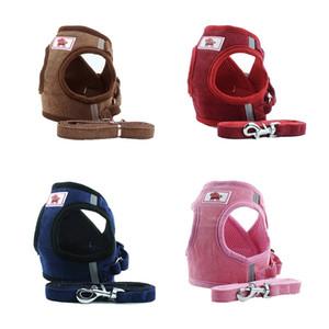 Питомец для питомцев Mesh Dog Harness Set Новый ветрозащитный дышащий простой ремень для собак 4 цвета 5 размеров
