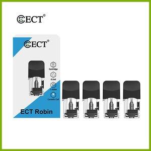 ECT Robin 2 en 1 bobine en céramique rechargée vape stylo gousse vide 0.5ml 4pcs / pack usine en gros à la fois pour e_liquid et huile épaisse