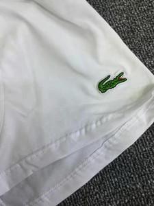 Yeşil Timsah Patch Nakış Brifing 3 adet Yüksek Kalite Saf Renk Boxer Erkekler Pamuk Ticari Külotlar