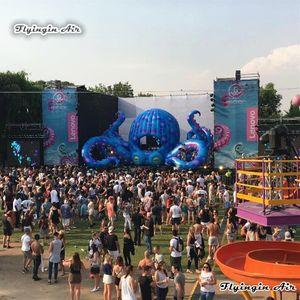 Concert For Açık Sahne Dekor Şişme Ahtapot Çadır 8m Dev DJ Ahtapot Booth Ve Müzik Festivali Dekorasyon