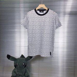 2020 summer new short sleeve T-shirt printed cotton fabric color black and white size S-XXL1999