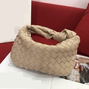 new fashionable hot sale woman's chain hobos bags Knitting cloud bags genuine real leather simple one shoulder crossbody bags high quality