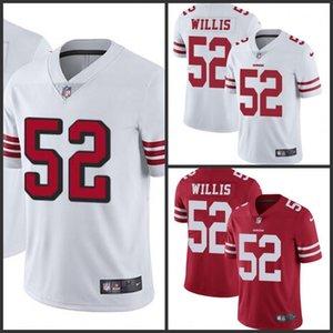 San Francisco49ersDonne Youth Men # uomini della squadra di colore rosso 52 Patrick Willis ha cucito vapore Untouchable Limited Jersey