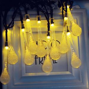 Navidad Chasanwan Luces 4 0,8 M 20 LED de agua de las gotitas luz de tira llevada decoraciones de Navidad Año Nuevo adornos de luces al aire libre.