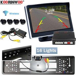 Koorinwoo Eu License Camera Parktronic Electromagnetic Car Parking Sensor Monitor Video Lcd Accessories Reverse Camera Rear Back