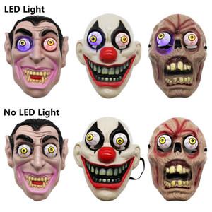 Masque Halloween Horreur Masque Led Lumière Vampire Eye Mask Horror Vampire Flashing Light Éclatement Eye cosplay costume mascarade Masques facial