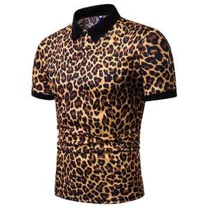 Polos Yaz Tasarımcı Erkek Günlük Moda Tişört Tees Kısa kollu üstler 19ss Erkek Leopar