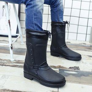 Hot Sale-gh quality men's rubber boots rain rubber shoes fashion adult overshoes waterproof shoes