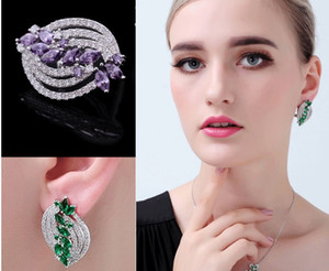 pirce basso modo di alta qualità cristallo di diamante serpente End-personalizzato 925 earings della signora argento (45b
