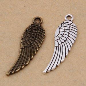 Zakka Ailes d'ange Pendentif Charms plume alliage pour collier bricolage accessoires bijoux 10 * Faire conclusions 30mm